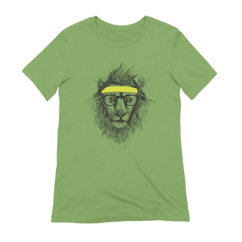 Hipster Lion Women's Extra Soft T-Shirt by Balazs Solti