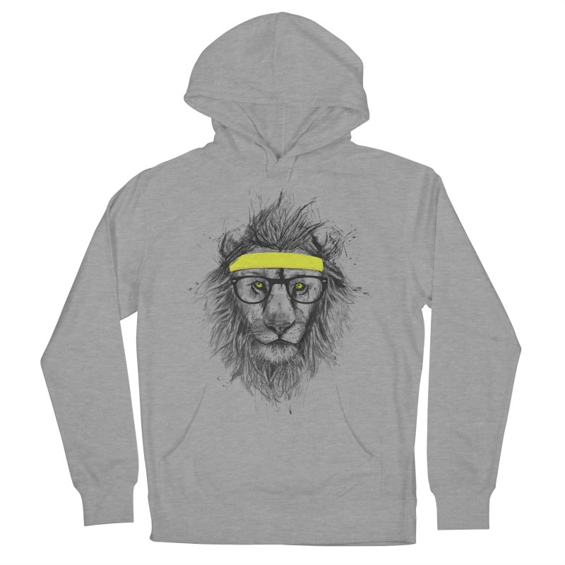 Hipster Lion Men's Pullover Hoody by Balazs Solti
