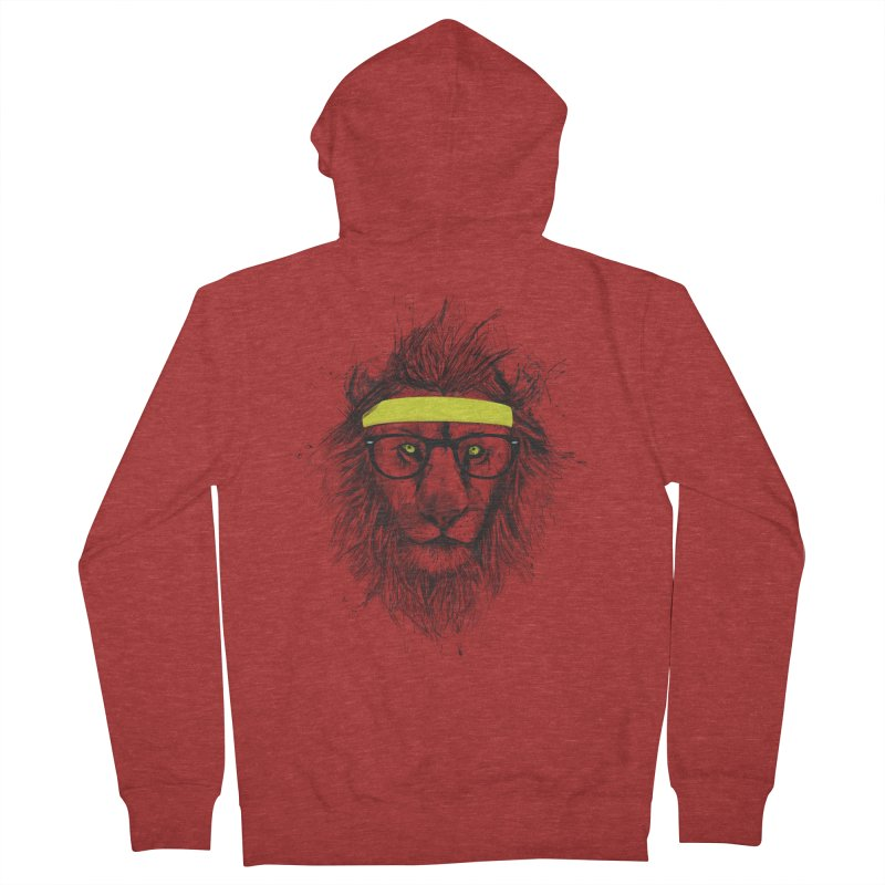 Hipster Lion Women's Zip-Up Hoody by Balazs Solti
