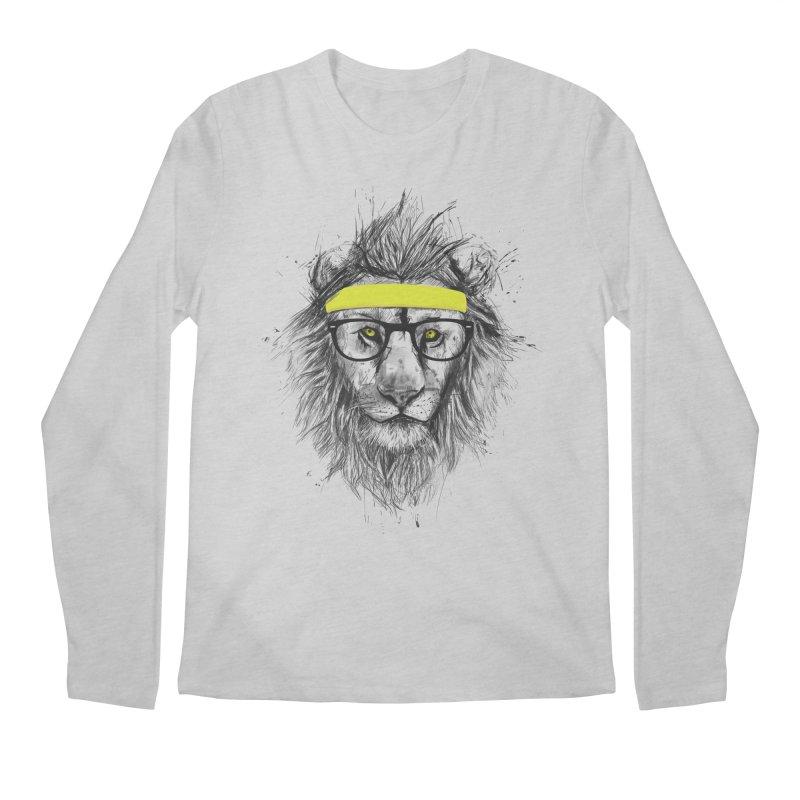Hipster Lion Men's Longsleeve T-Shirt by Balazs Solti