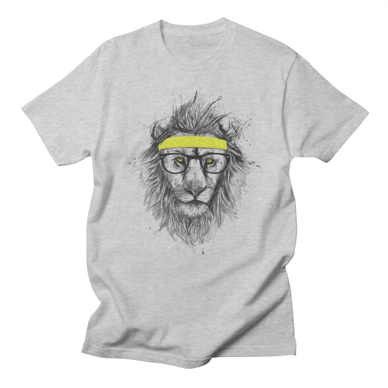 Hipster Lion Men's T-shirt by Balazs Solti