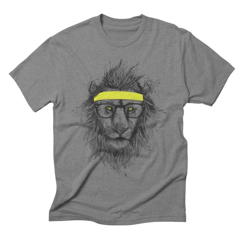 Hipster Lion Men's Triblend T-shirt by Balazs Solti