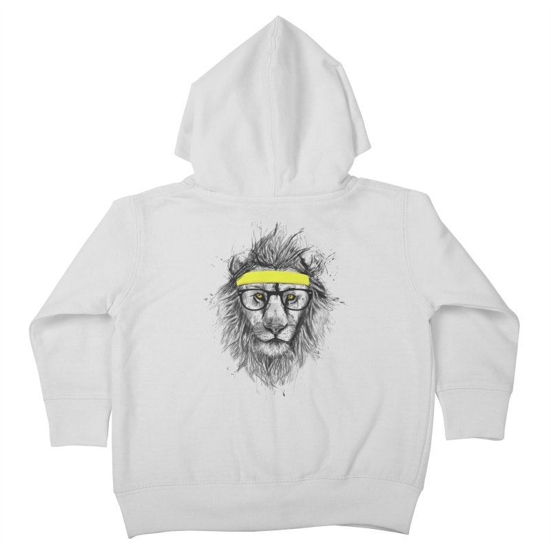 Hipster Lion Kids Toddler Zip-Up Hoody by Balazs Solti