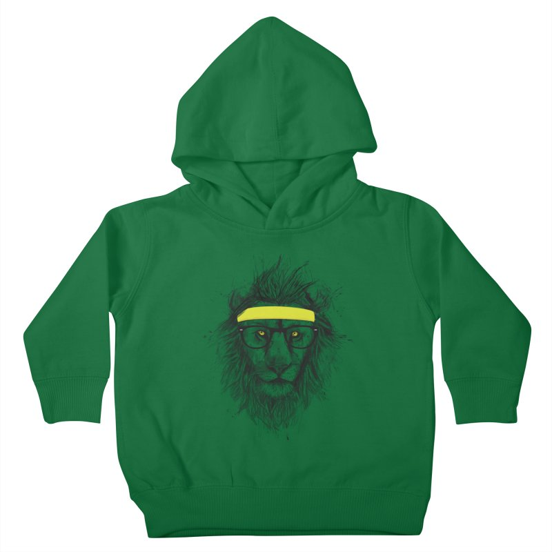 Hipster Lion Kids Toddler Pullover Hoody by Balazs Solti