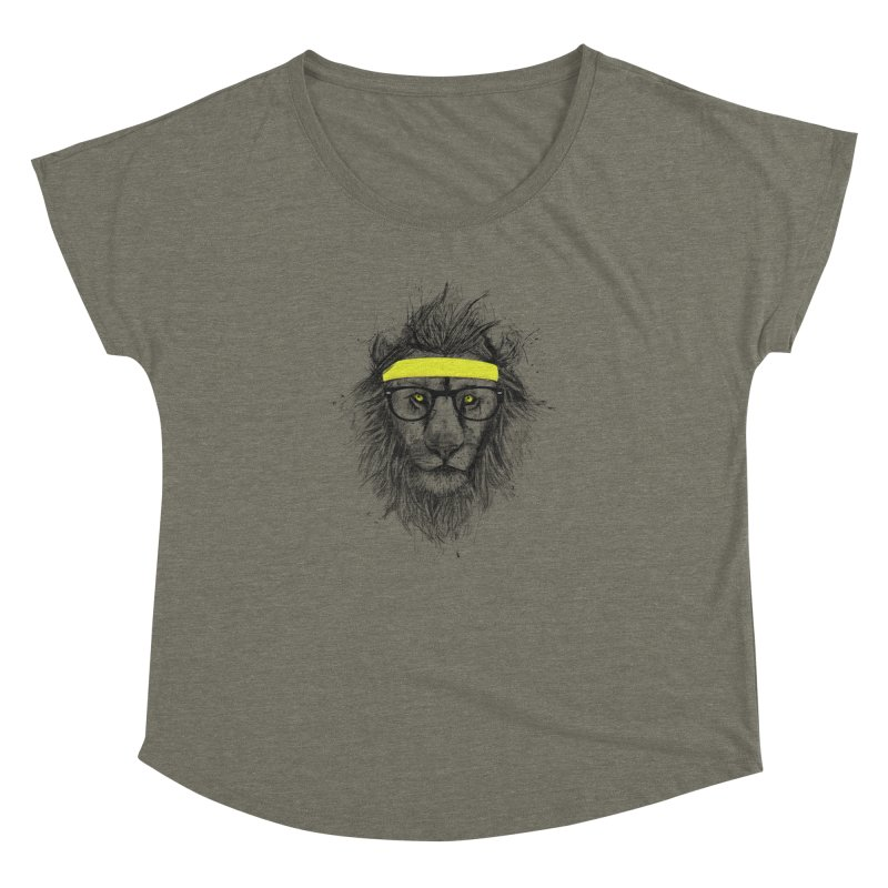 Hipster Lion Women's Dolman by Balazs Solti