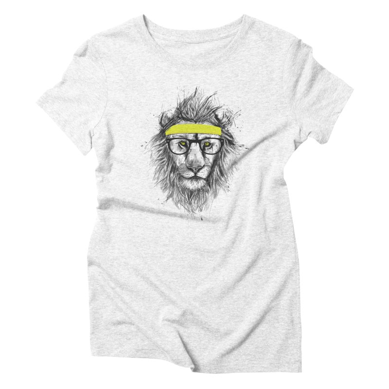 Hipster Lion Women's Triblend T-shirt by Balazs Solti