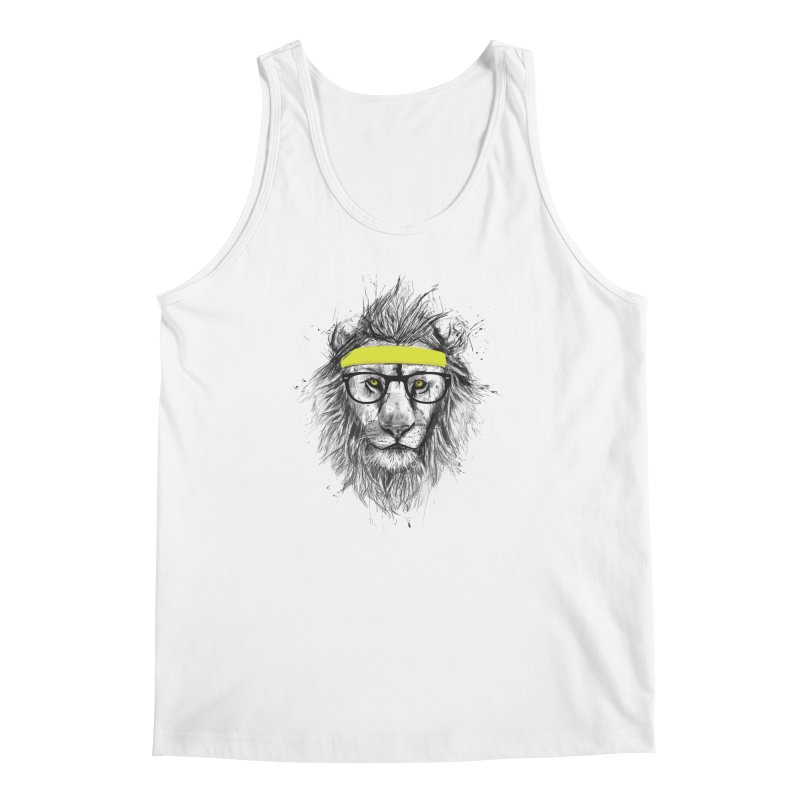 Hipster Lion Men's Tank by Balazs Solti