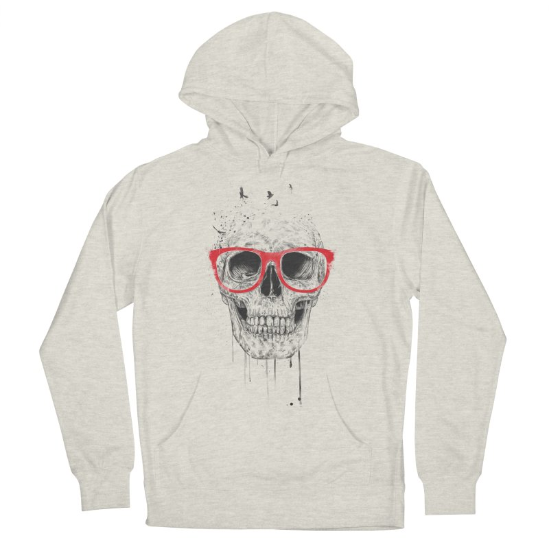 Skull With Red Glasses Women's Pullover Hoody by Balazs Solti