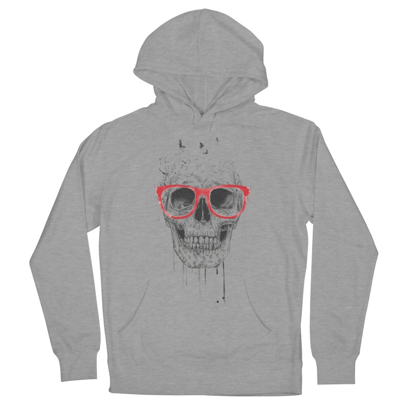 Skull With Red Glasses Men's Pullover Hoody by Balazs Solti