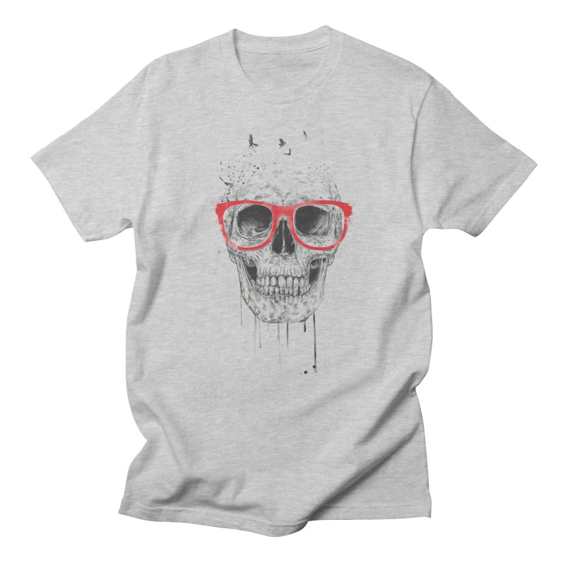 Skull With Red Glasses Men's T-shirt by Balazs Solti