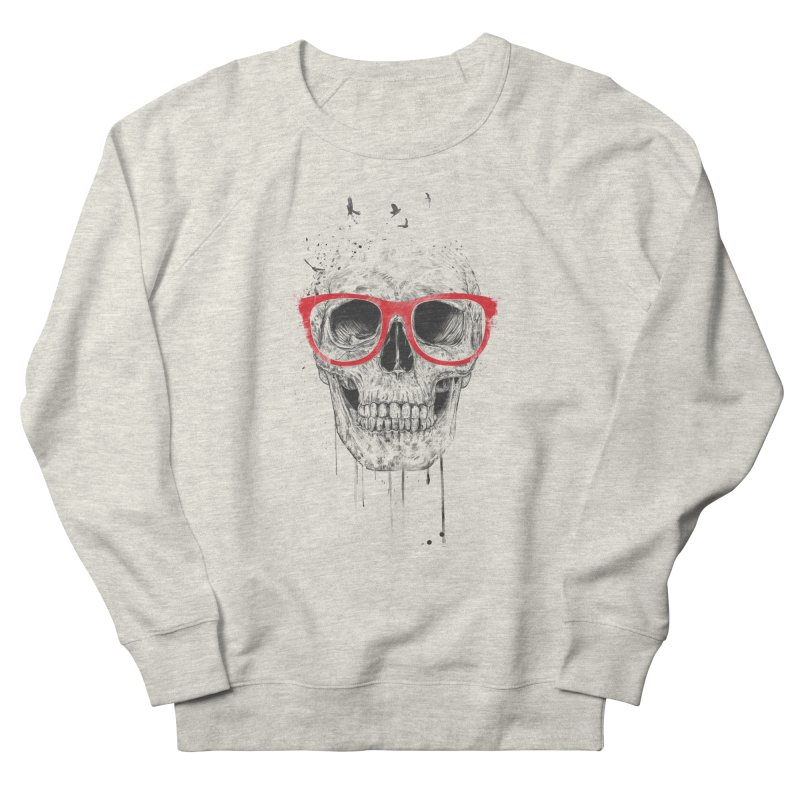 Skull With Red Glasses Women's Sweatshirt by Balazs Solti