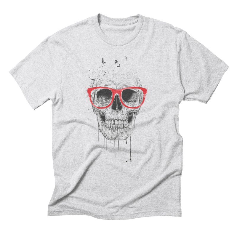 Skull With Red Glasses Men's Triblend T-shirt by Balazs Solti