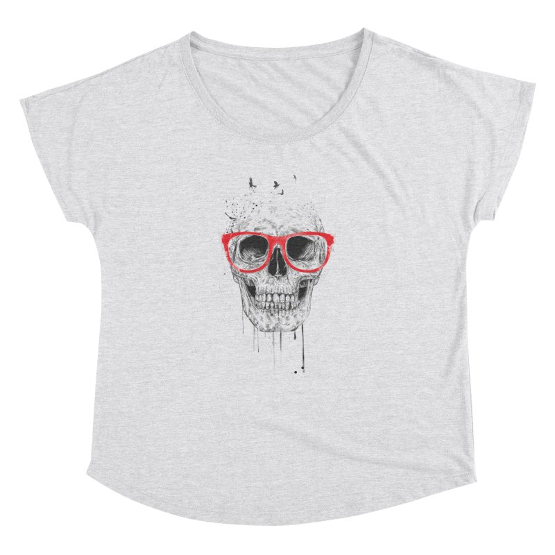 Skull With Red Glasses Women's Dolman by Balazs Solti