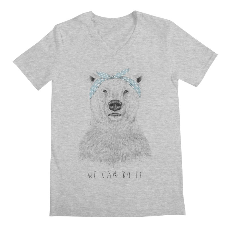 We Can Do It Men's V-Neck by Balazs Solti
