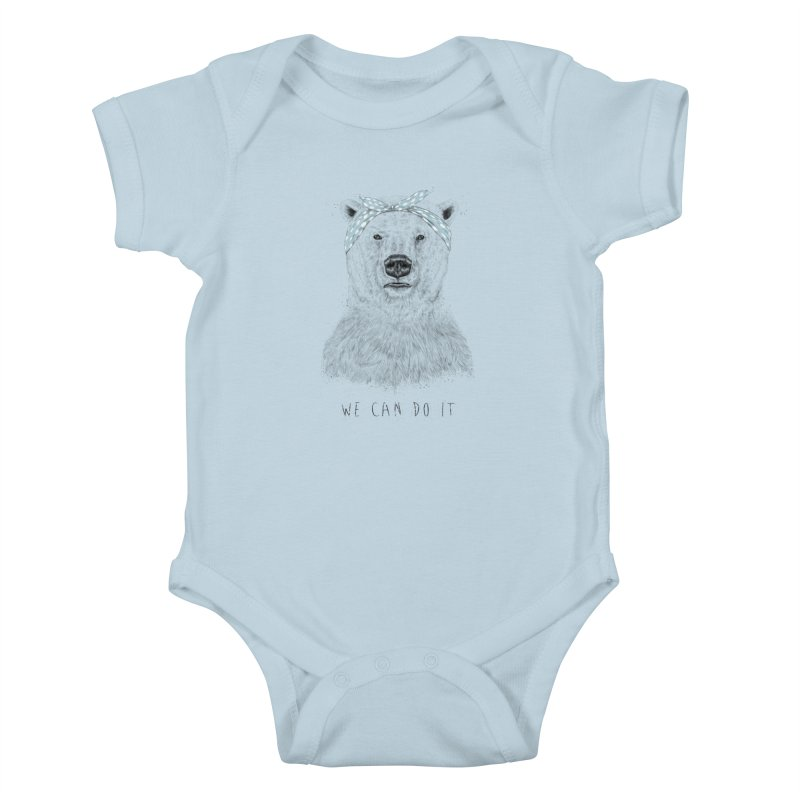 We Can Do It Kids Baby Bodysuit by Balazs Solti