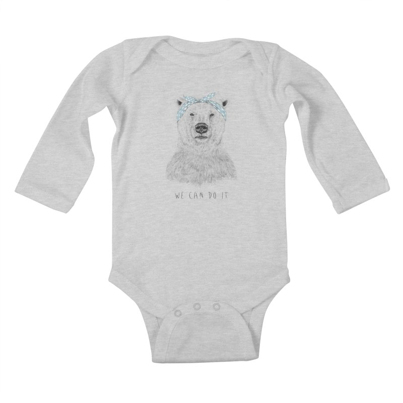 We Can Do It Kids Baby Longsleeve Bodysuit by Balazs Solti