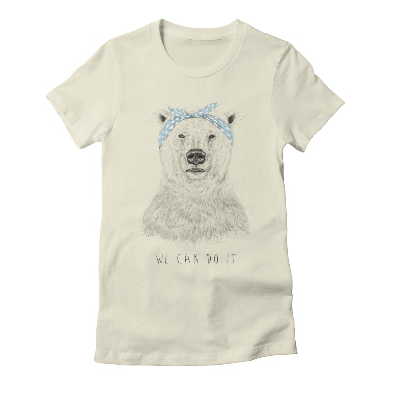We Can Do It Women's Fitted T-Shirt by Balazs Solti