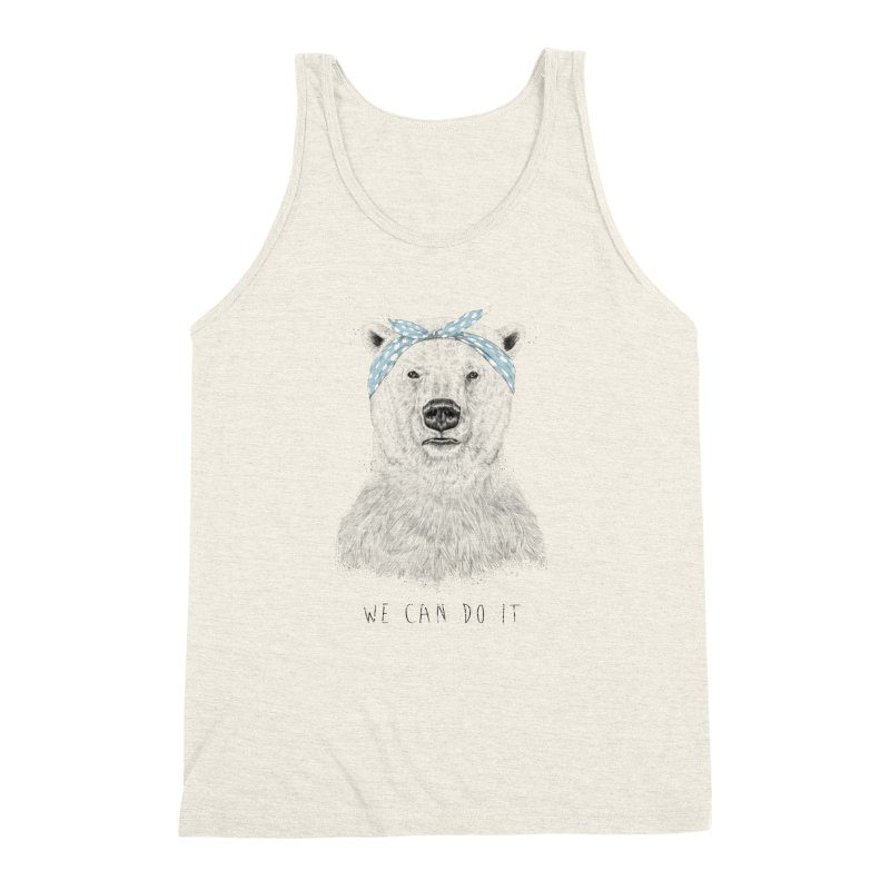 We Can Do It Men's Triblend Tank by Balazs Solti