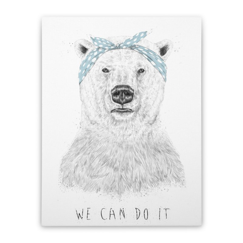 We Can Do It Home Stretched Canvas by Balazs Solti