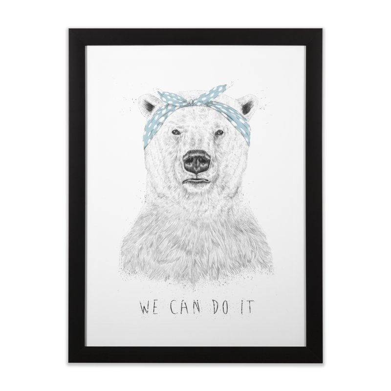 We Can Do It Home Framed Fine Art Print by Balazs Solti