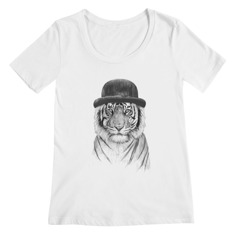 Welcome to the Jungle Women's Scoopneck by Balazs Solti