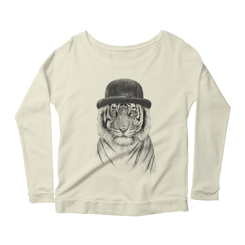 Welcome to the Jungle Women's Longsleeve Scoopneck  by Balazs Solti