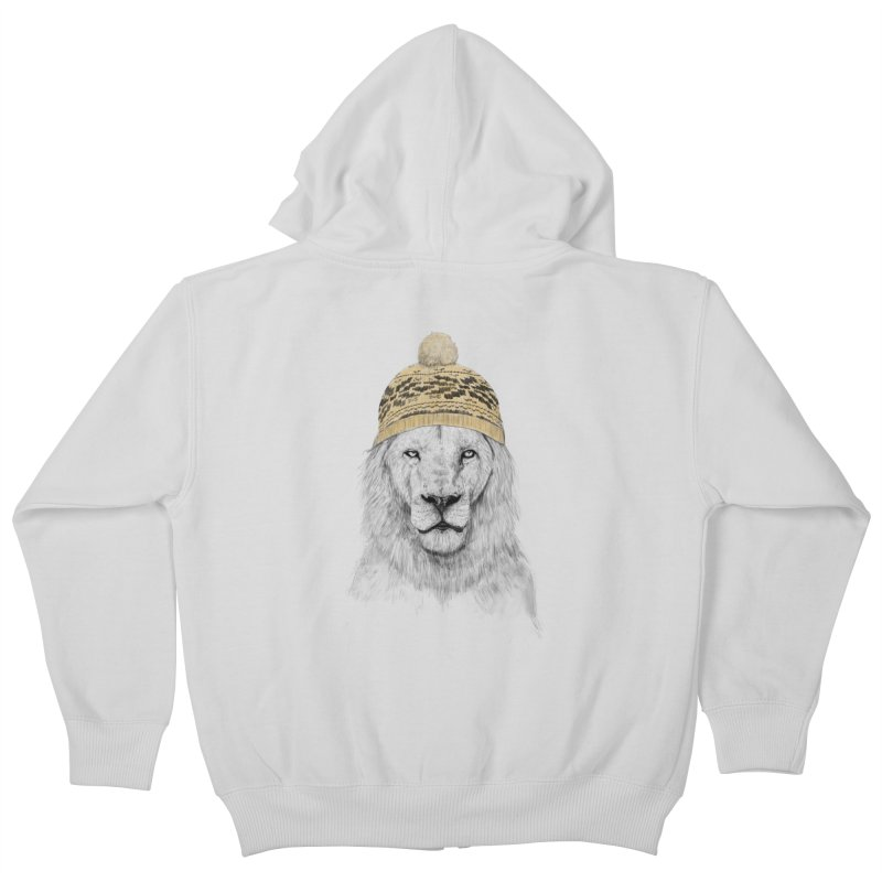 Winter is Coming Kids Zip-Up Hoody by Balazs Solti