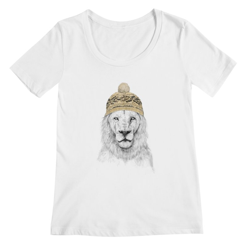 Winter is Coming Women's Scoopneck by Balazs Solti