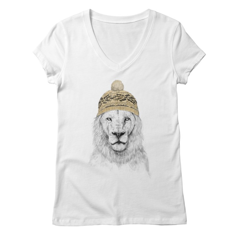 Winter is Coming Women's V-Neck by Balazs Solti