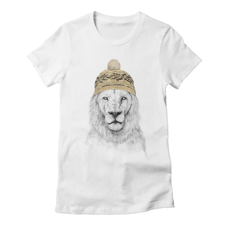 Winter is Coming Women's Fitted T-Shirt by Balazs Solti