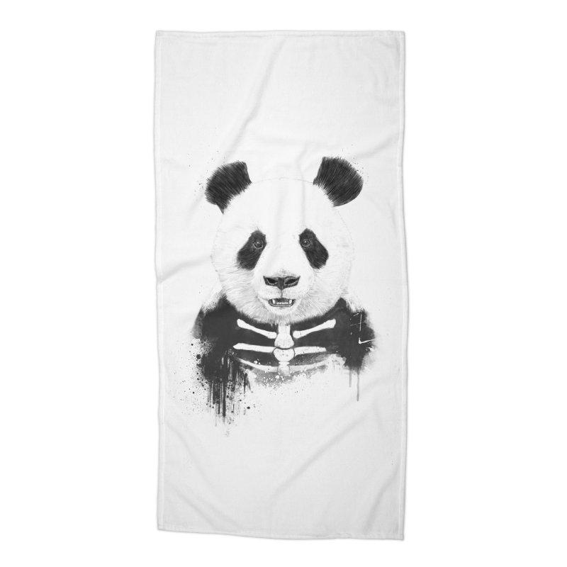 Zombie Panda Accessories Beach Towel by Balazs Solti