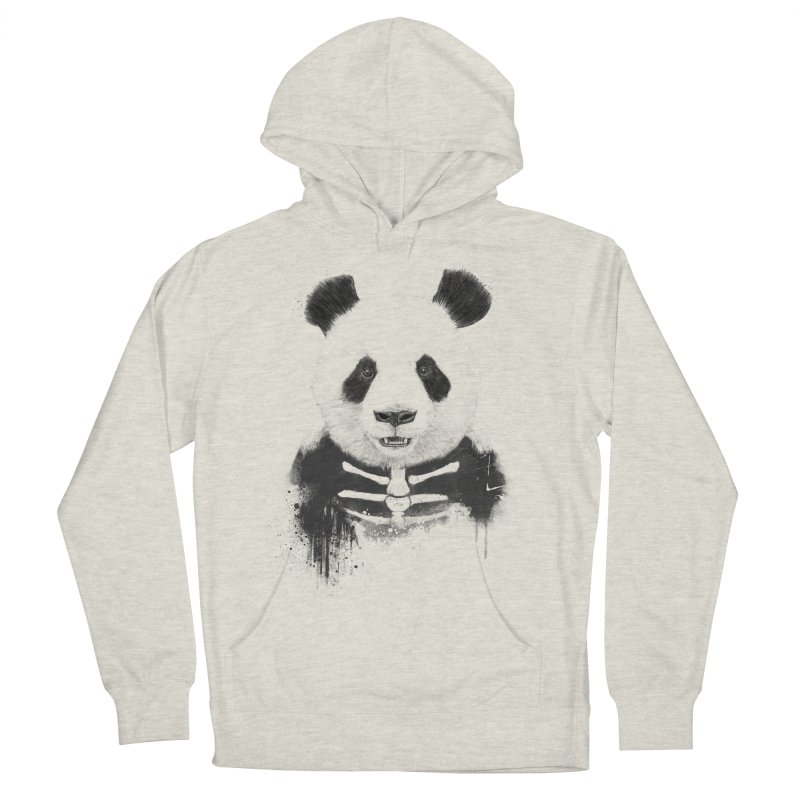 Zombie Panda Women's French Terry Pullover Hoody by Balazs Solti