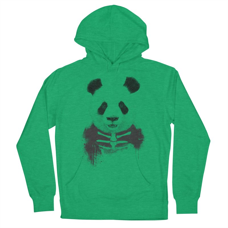 Zombie Panda Men's French Terry Pullover Hoody by Balazs Solti