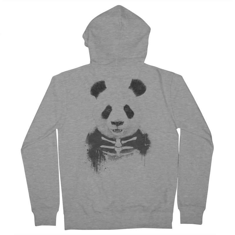 Zombie Panda Women's Zip-Up Hoody by Balazs Solti