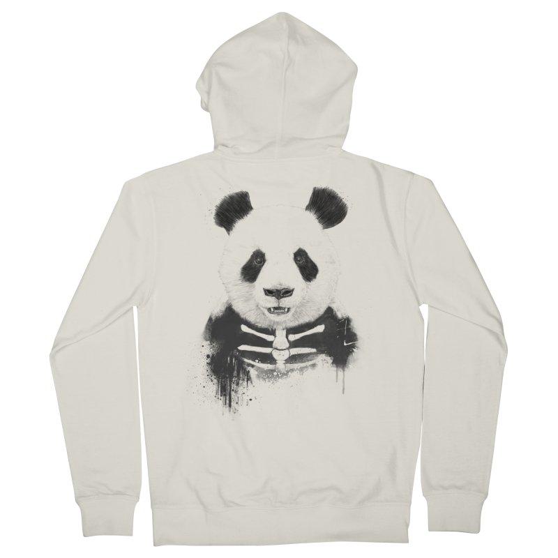Zombie Panda Men's Zip-Up Hoody by Balazs Solti