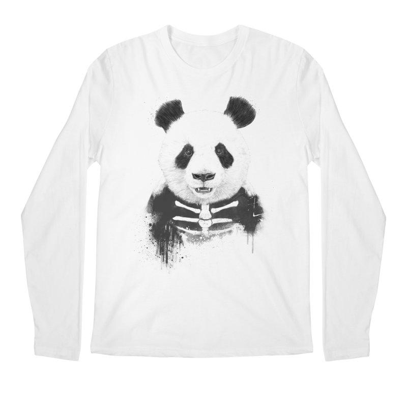 Zombie Panda Men's Longsleeve T-Shirt by Balazs Solti