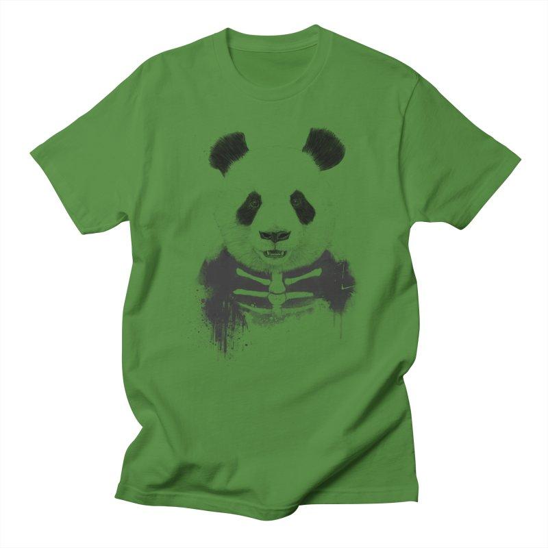 Zombie Panda Women's Regular Unisex T-Shirt by Balazs Solti