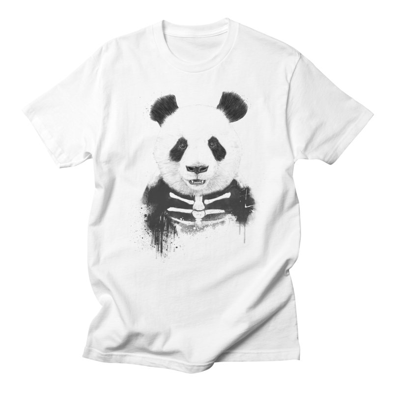 Zombie Panda Men's T-Shirt by Balazs Solti