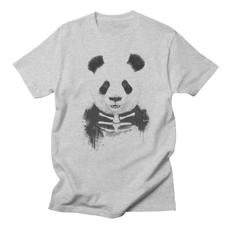 Zombie Panda Men's T-shirt by Balazs Solti