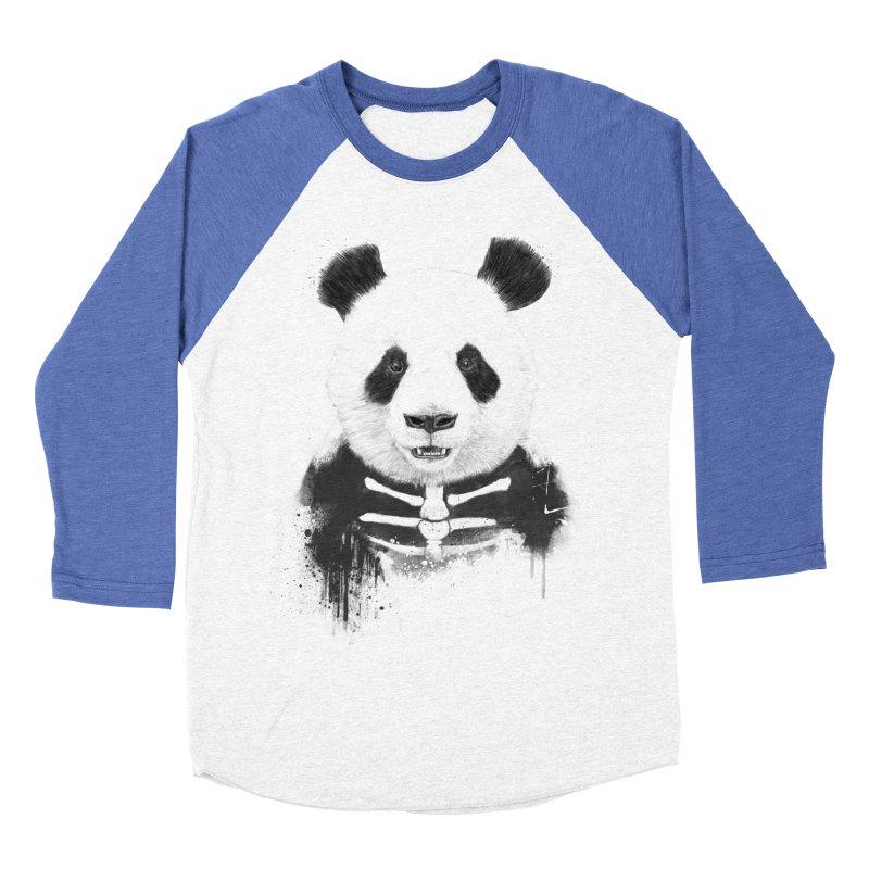 Zombie Panda Women's Baseball Triblend T-Shirt by Balazs Solti