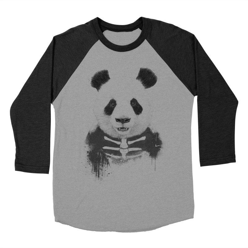 Zombie Panda Women's Baseball Triblend Longsleeve T-Shirt by Balazs Solti