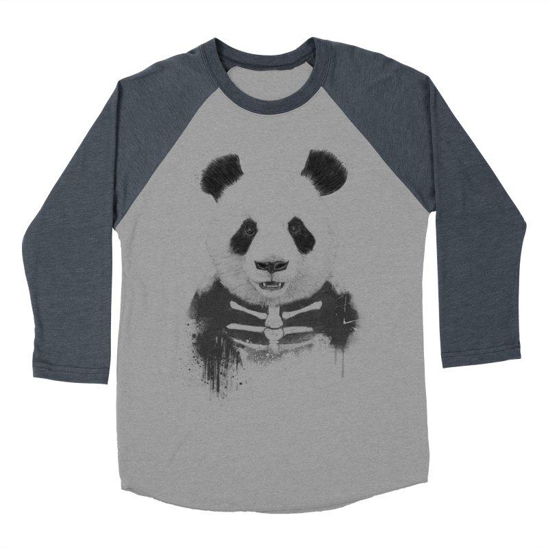 Zombie Panda Men's Baseball Triblend T-Shirt by Balazs Solti