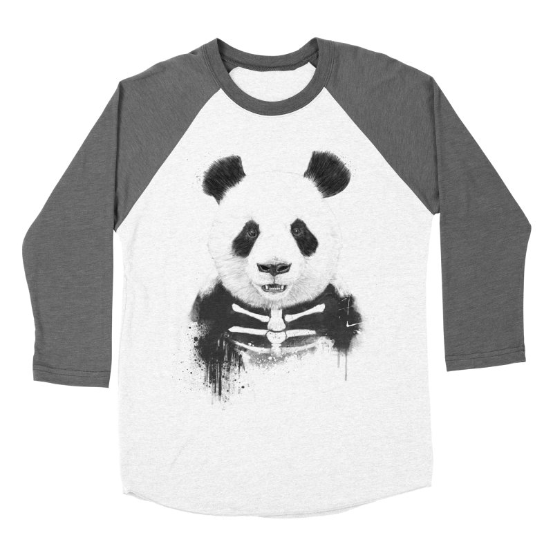 Zombie Panda Men's Baseball Triblend T-Shirt by Balazs Solti