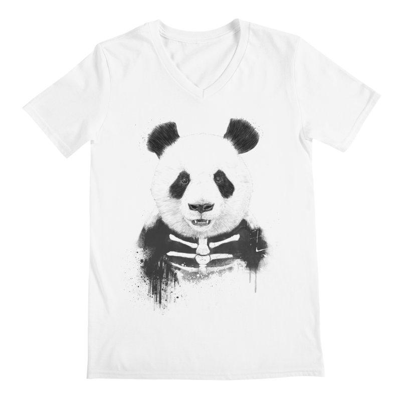 Zombie Panda Men's V-Neck by Balazs Solti