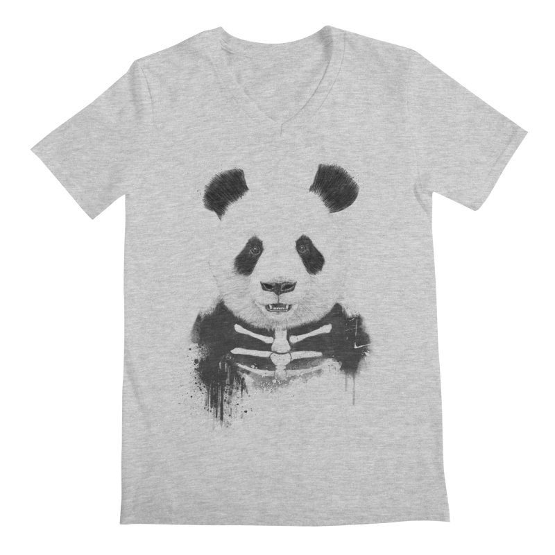 Zombie Panda Men's V-Neck by Balazs Solti