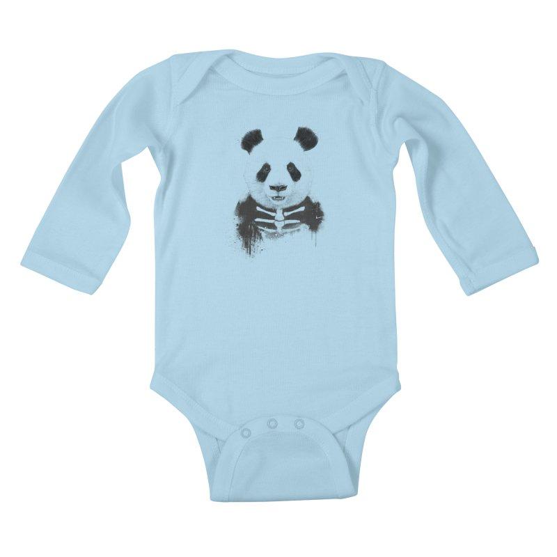 Zombie Panda Kids Baby Longsleeve Bodysuit by Balazs Solti