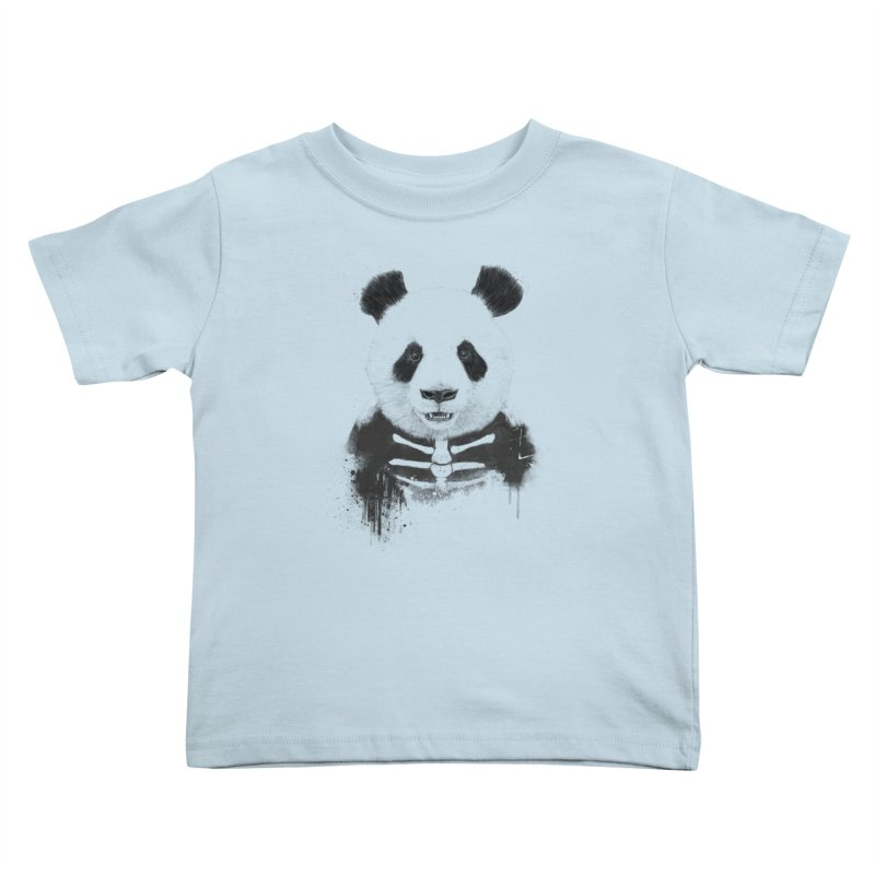 Zombie Panda Kids Toddler T-Shirt by Balazs Solti