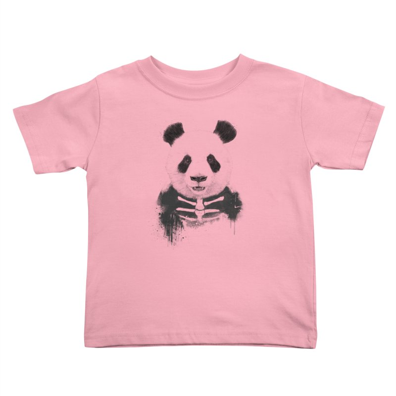 Zombie Panda Kids Toddler T-Shirt by Balazs Solti