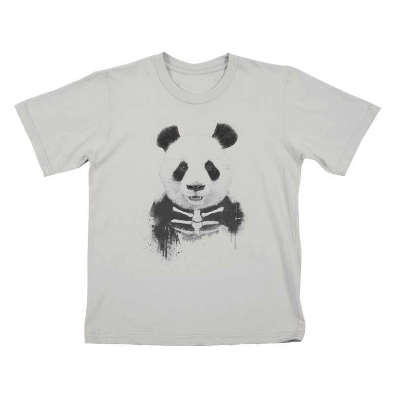 Zombie Panda Kids T-Shirt by Balazs Solti