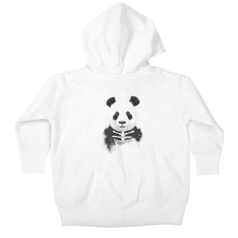 Zombie Panda Kids Baby Zip-Up Hoody by Balazs Solti